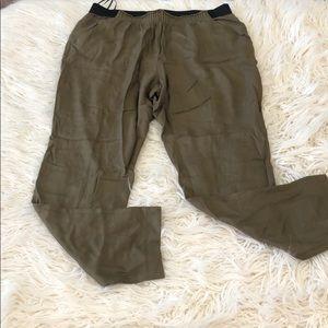 Rachel by Rachel Roy Green Slouchy Pants Large
